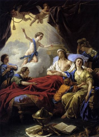 Allegory on the Death of the Dauphin | Louis Jean Francois Lagrenee | oil painting