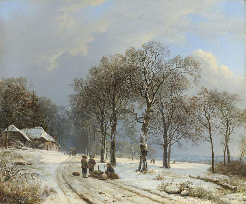 Winter Landscape. 1835 - 1838 | Barend Cornelis Koekkoek | oil painting