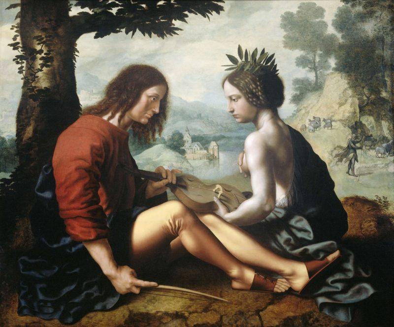 Allegory on the nature of art as a nurse. 1540 - 1557 | Jan van Hemessen | oil painting