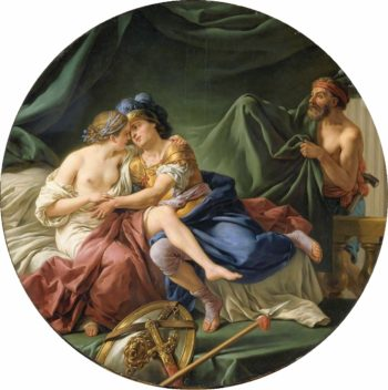 Mars and Venus Surprised by Vulcan | Louis Jean Francois Lagrenee | oil painting