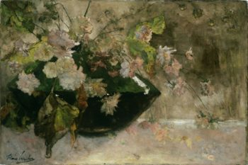 Still Life with Peonies. 1889 | Floris Verster | oil painting