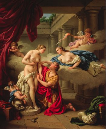 Pygmalion and Galatea | Louis Jean Francois Lagrenee | oil painting