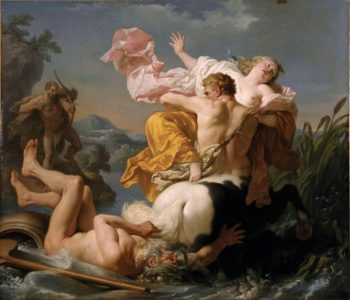 The Abduction of Deianeira by the Centaur Nessus | Louis Jean Francois Lagrenee | oil painting