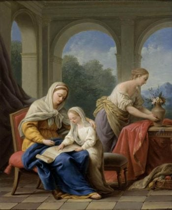 The Education of the Virgin | Louis Jean Francois Lagrenee | oil painting