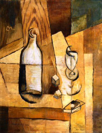 Bottle and Glass | Louis Marcoussis | oil painting