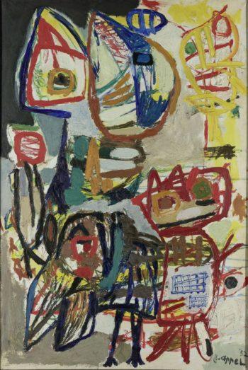 The encounter. 1952 | Karel Appel | oil painting