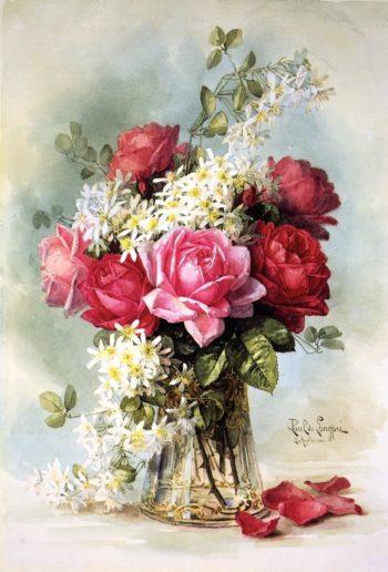 Untitled   Raoul de Longpre   oil painting