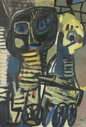 Black Virgin. 1952 | Karel Appel | oil painting
