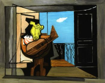 interior with Balcony | Louis Marcoussis | oil painting