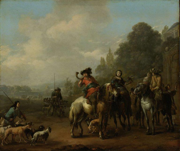 The return of the yacht. 1650 - 1674 | Johannes Lingelbach | oil painting