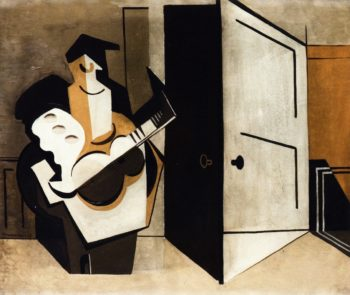 Musician in an Interior | Louis Marcoussis | oil painting