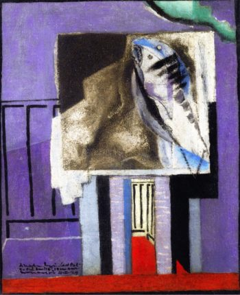 Still Life in front of the Balcony | Louis Marcoussis | oil painting