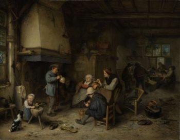 Peasants in an Interior. 1661 | Adriaen van Ostade | oil painting