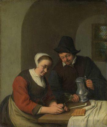 The confidential service. 1672 | Adriaen van Ostade | oil painting