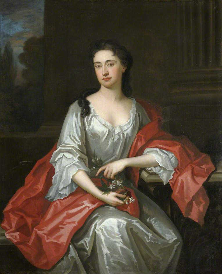 Portrait of a Lady Holding Flowers   Sir Godfrey Kneller   oil painting