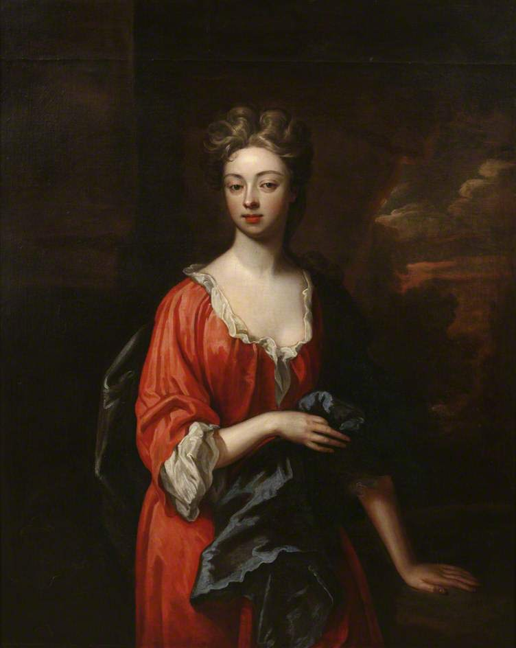 Portrait of a Lady in a Red Dress | Sir Godfrey Kneller | oil painting