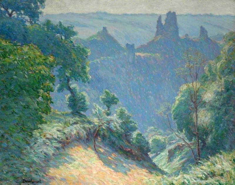 An Ancient Stronghold in France | Maurice Braun | oil painting