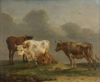 Four Cows in a Meadow. 1651 | Paulus Potter | oil painting