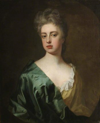 Portrait of an Unknown Lady Wearing a Pale Green Dress with Dark Green Wrap | Sir Godfrey Kneller | oil painting