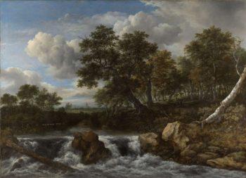 Landscape with Waterfall. ca. 1668 | Jacob Isaacksz. van Ruisdael | oil painting