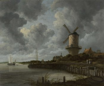 The Windmill at Wijk bij Duurstede. ca. 1668 - ca. 1670 | Jacob Isaacksz. van Ruisdael | oil painting