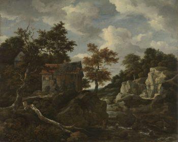 Rocky landscape. 1650 - 1682 | Jacob Isaacksz. van Ruisdael | oil painting