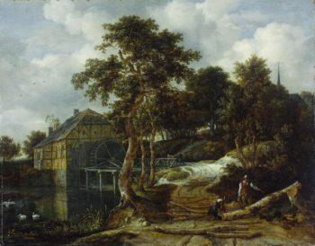 Landscape with watermill. 1661 | Jacob Isaacksz. van Ruisdael | oil painting