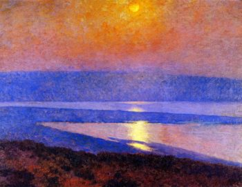 Moonrise over San Diego Bay | Maurice Braun | oil painting