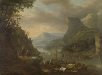 River View in a mountainous region. 1655 - 1685 | Herman Saftleven | oil painting