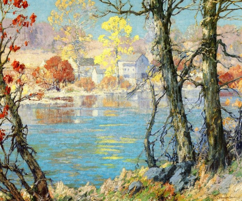 Silvermine River   Maurice Braun   oil painting