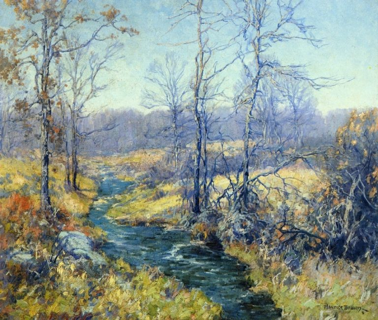 Spring in Connecticut | Maurice Braun | oil painting