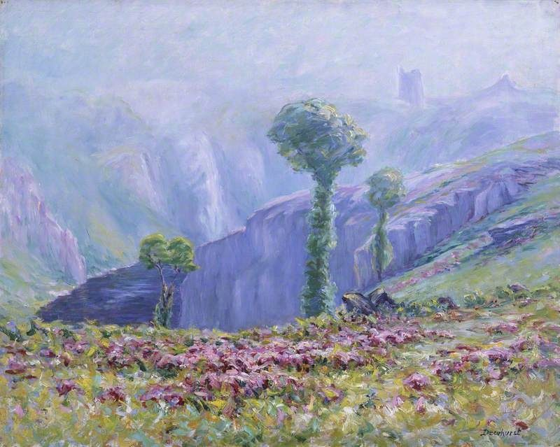 Summer Mist Valley of La Creuse | Maurice Braun | oil painting