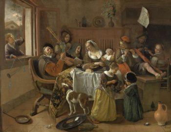 The Merry Family. 1668 | Jan Havicksz. Steen | oil painting