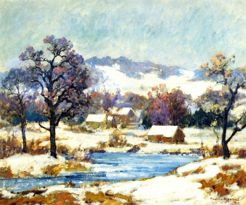 The First Snow | Maurice Braun | oil painting