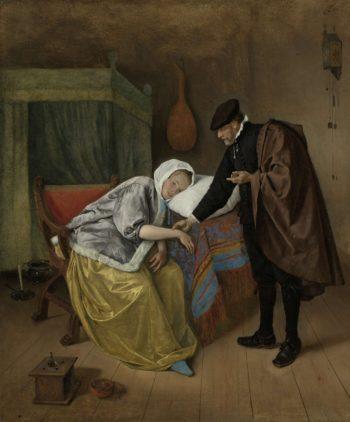 The Sick Woman. ca. 1663 - ca. 1666 | Jan Havicksz. Steen | oil painting