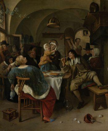 Family Scene. 1660 - 1679 | Jan Havicksz. Steen | oil painting