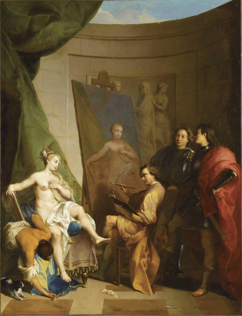 Apelles Painting Campaspe   Nicolas Vleughels   oil painting