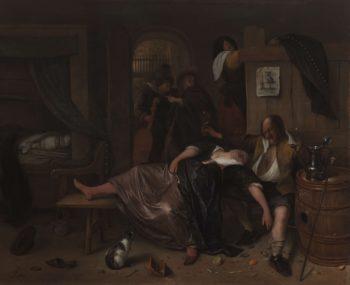 The Drunken Couple. ca. 1655 - ca. 1665 | Jan Havicksz. Steen | oil painting
