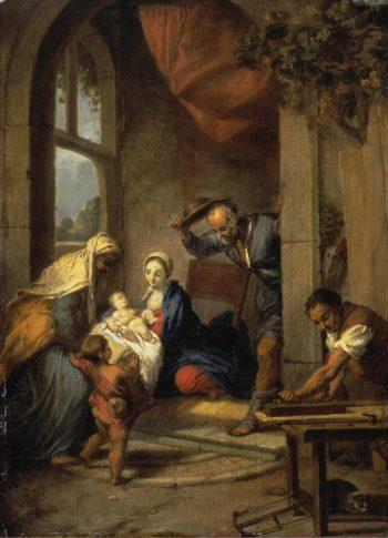 Holy Family   Nicolas Vleughels   oil painting