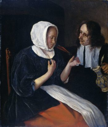 A couple drinking. 1660 - 1679 | Jan Havicksz. Steen | oil painting
