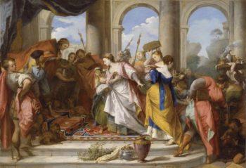 Solomon Welcomed by the Queen of Sheba   Nicolas Vleughels   oil painting