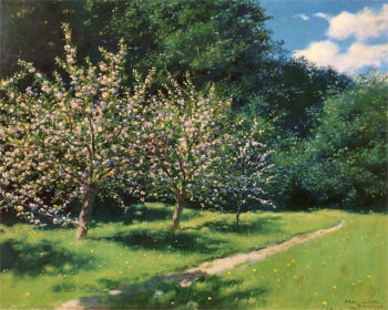 Apple Blossoms | Stanislaw Ignacy Witkiewicz | oil painting