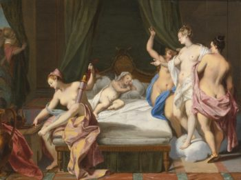 Venus and the Three Graces Tending Cupid   Nicolas Vleughels   oil painting