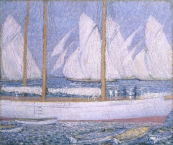 A Procession of Yachts | Philip Wilson Steer | oil painting