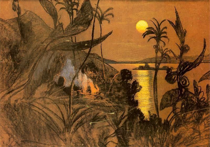 Australian Landscape   Stanislaw Ignacy Witkiewicz   oil painting