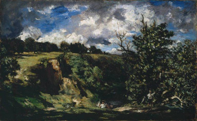 Bird nesting Ludlow | Philip Wilson Steer | oil painting