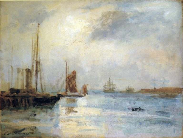 Boats at Anchor | Philip Wilson Steer | oil painting