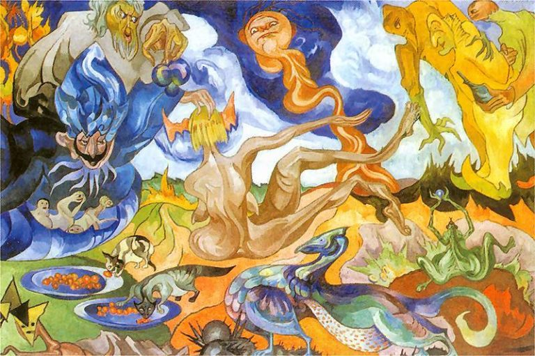 Creation of the World | Stanislaw Ignacy Witkiewicz | oil painting