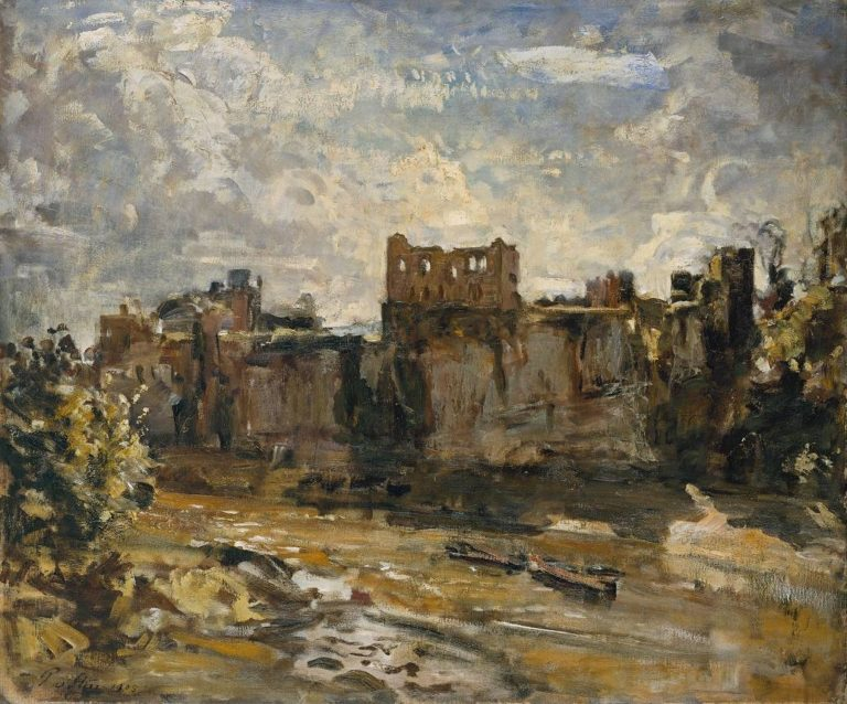 Chepstow Castle | Philip Wilson Steer | oil painting