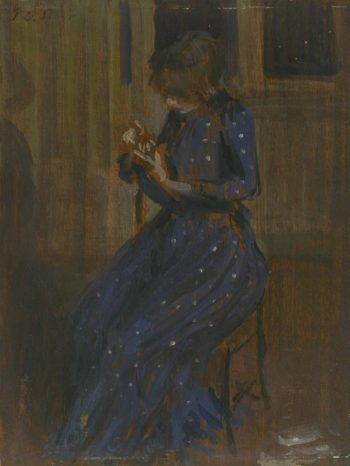 Girl in a Blue Dress | Philip Wilson Steer | oil painting